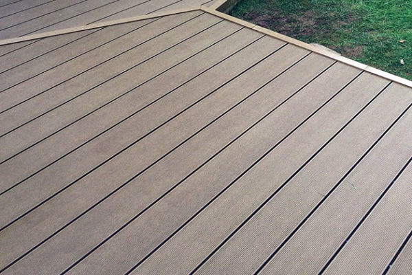 Completed composite decking project in Devon
