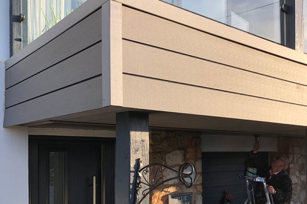 Composite Cladding on outside of house in Devon