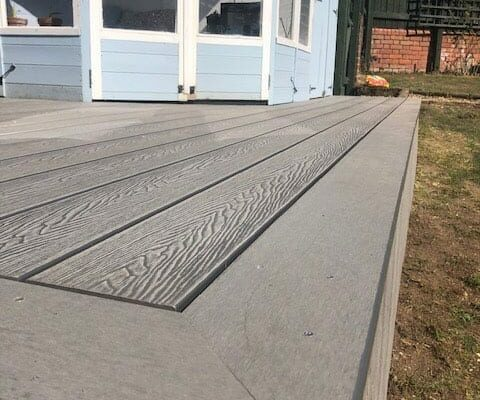 Composite deck outside-of small building in Torbay