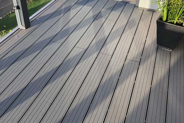 Composite decking image from Devon project