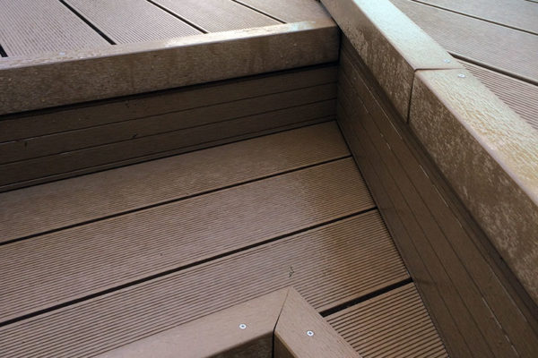 Composite decking joints in Devon project