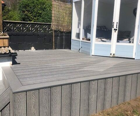 Composite decking project-for small house in Torbay